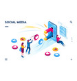 social media users followers sharing content vector image vector image