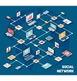 Social network isometric vector image vector image
