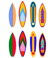surf boards designs surfboard coloring set vector image vector image