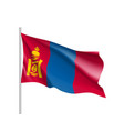 the flag of mongolia flat style vector image vector image