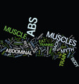 the most common myths about abs text background vector image vector image