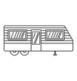 trailer house icon outline style vector image vector image