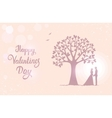 tree love with hearts vector image