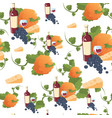 autumn seamless pattern happy thanksgiving day vector image