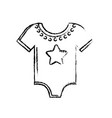 figure baby clothes that used to sleep vector image