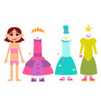 clothes for little princesses vector image