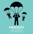 Parachutes Skydiving Sign vector image