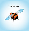 a little bee flying in the vector image vector image