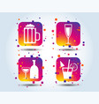 alcoholic drinks signs champagne beer icons vector image
