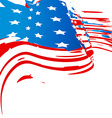 american flag design vector image