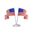 American table flag vector image vector image