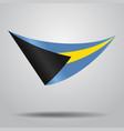 bahamas flag background vector image vector image