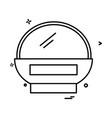 basket icon design vector image vector image