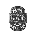 Best Freeride Vintage Badge vector image vector image
