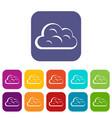 big cloud icons set flat vector image vector image