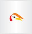 bird face logo symbol design icon vector image vector image