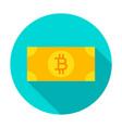 bitcoin banknote circle icon vector image vector image