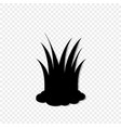 black silhouette of lawn grass icon transparent vector image