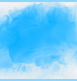blue ink effect watercolor texture background vector image vector image