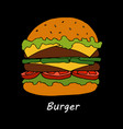burger cartoon vector image vector image