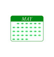 calendar may month icons vector image vector image