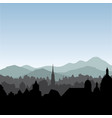 city skyline buildings silhouette cityscape old vector image