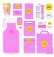 coffee house identity template set pink color vector image vector image