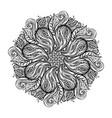 contour mandala religious design vector image vector image