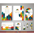 Corporate identity templates with abstract design vector image vector image