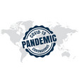 covid19-19 global outbreak pandemic background vector image vector image