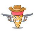 cowboy ice cream tone character cartoon vector image vector image