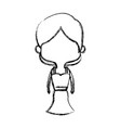 cute cartoon woman pretty elegant clothes vector image