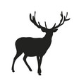 deer lies silhouette vector image