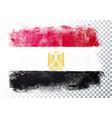 distortion grunge flag egypt vector image vector image