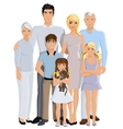 Family generation portrait vector image