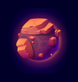 fantasy space planet with big rocks for ui game vector image