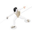 Fencing 2016 Sports 3D Isometric vector image