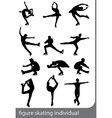 figure skating individual silhouettes vector image