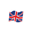 flat union jack britain flag icon vector image vector image