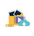 folder with objects isolated icon vector image vector image