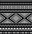 folk seamless aztec ornament pattern vector image vector image