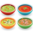 four soup vector image