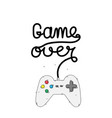 game over game controller background image vector image