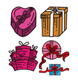 gift present design graphic template vector image vector image