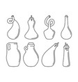 glassware instruments in linear style vector image vector image