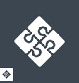 global solution glyph icon vector image
