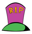 grave icon icon cartoon vector image vector image
