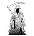 grim reaper coloring book vector image