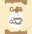 hand drawing coffee card vector image vector image