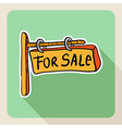 Hand drawn real estate for sale sign vector image vector image